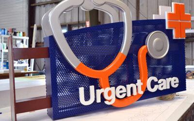 Urgent Care – Flag Sign