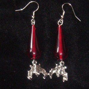 BLOOD DROP & VAMPIRE BAT EARRINGS