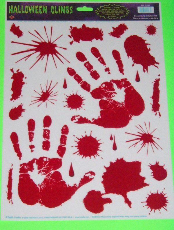 BLOODY HANDPRINTS CLINGS