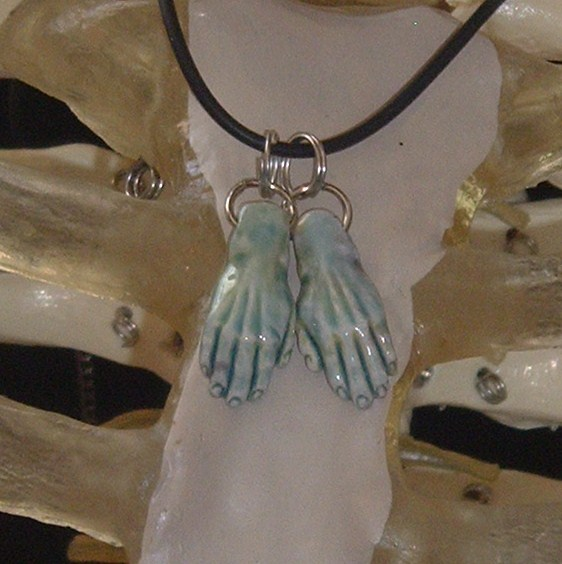 CORPSE HANDS NECKLACE