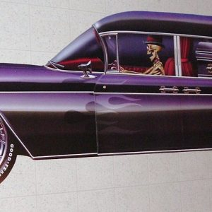 1959 CADDY HEARSE WALL DECOR 6 FT LONG!!