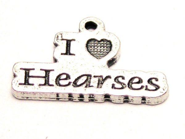 I LOVE HEARSES CHARM