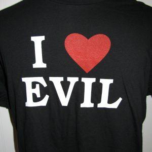 I (HEART) EVIL - BLACK T-SHIRT L