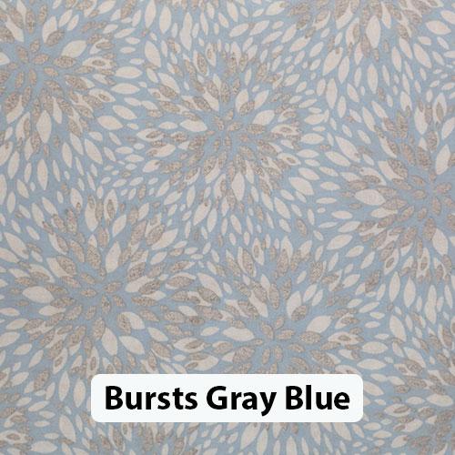 Floral Bursts Gray Blue