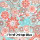 Floral Orange Blue