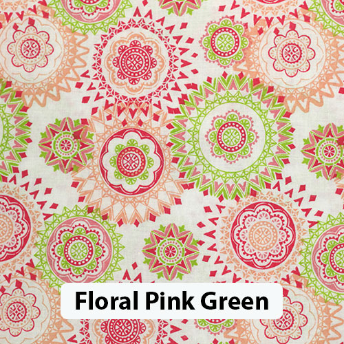 Floral Pink Green 2