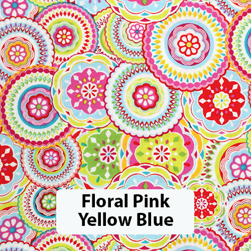 Floral Pink Yellow Blue