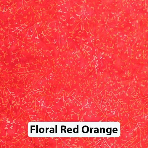 Floral Red Orange 1