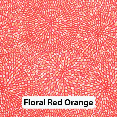 Floral Red Orange 2