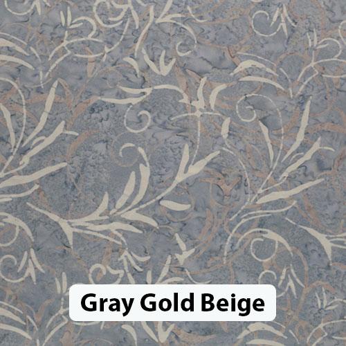 Floral Gray Gold Beige