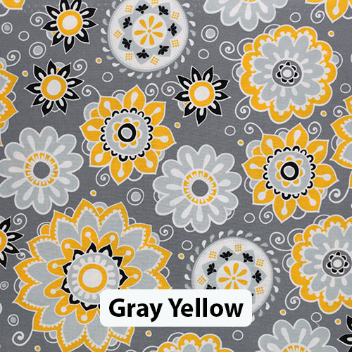 Floral Gray Yellow