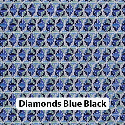 Diamonds Blue Black