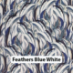 Feathers Blue White
