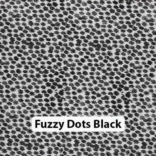 Fuzzy Dots Black