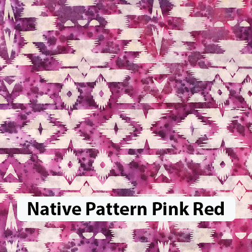 Native Pattern Pink Red