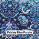 Paisley Blue Purple