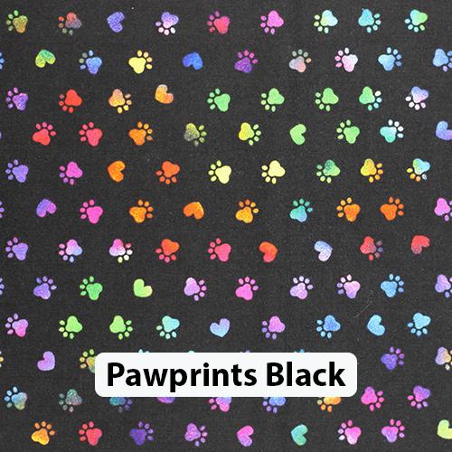 Pawprints Black
