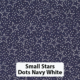 Small Stars Dots Navy White