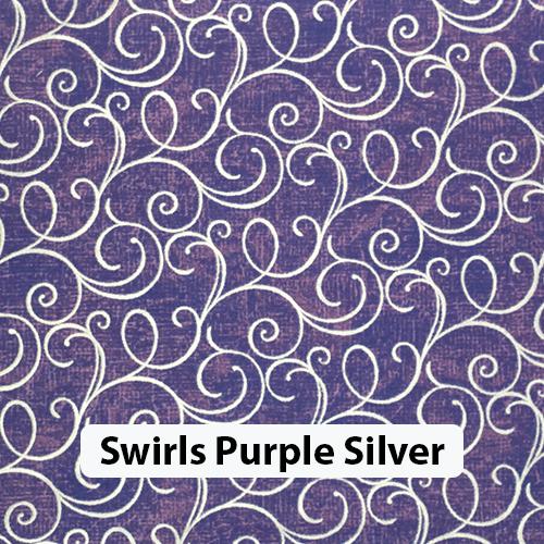 Swirls Purple Silver