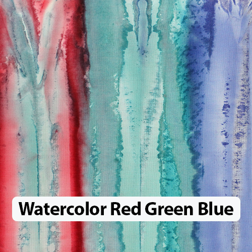 Watercolor Red Green Blue