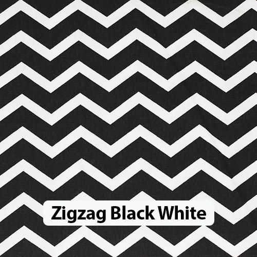 Zigzag Black White