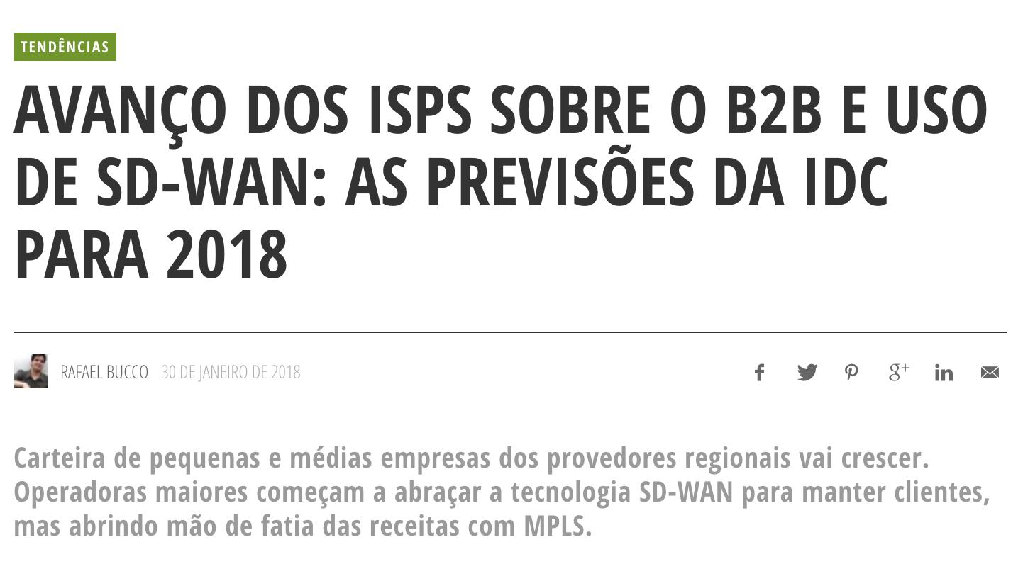 Avanço dos ISPs sobre o B2B e o uso do SD-WAN – TELESÍNTESE