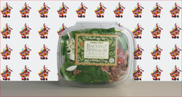 Trader Joe's Bacon & Spinach Salad with Poppy Seed Dressing