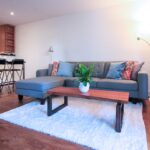Living Room with Fireplace and Patio Condo for Sale