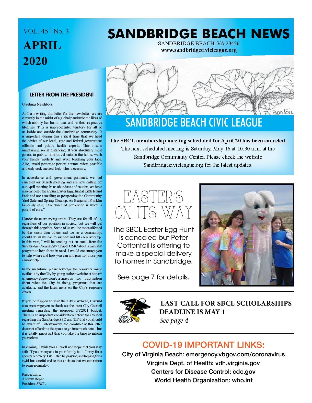 SBCL Newsletter April 2020