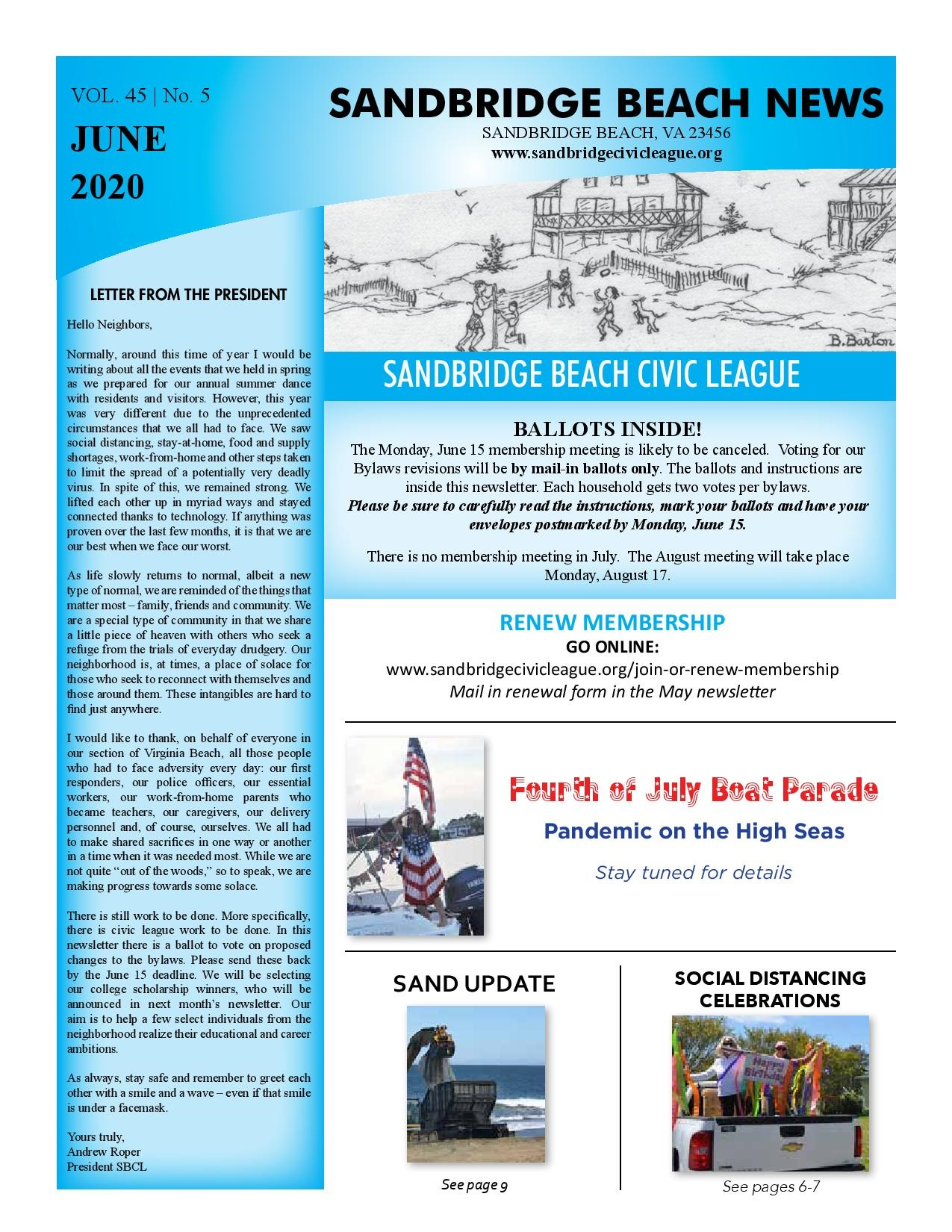 SBCL Newsletter June 2020