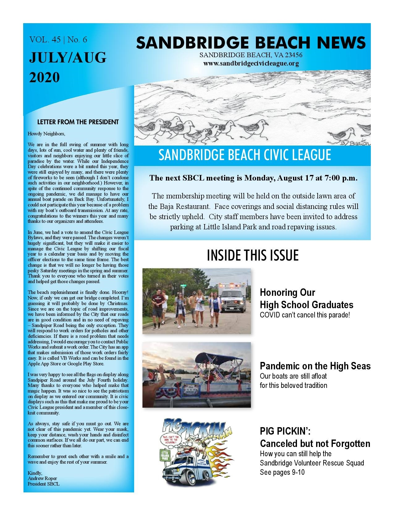 SBCL Newsletter Jul/Aug 2020
