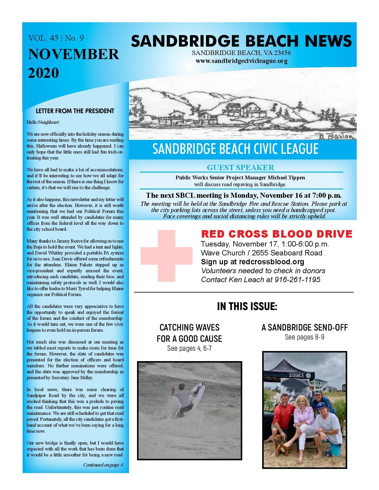 SBCL Newsletter Nov 2020