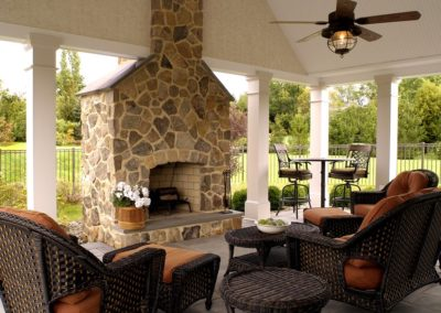 Gilroy-Outdoor Stone Fireplace