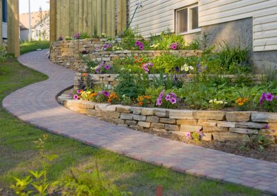 Gilroy-Pavers and Flower beds