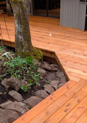 Cedar Deck Construction