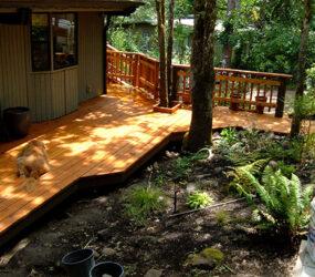 Finished Cedar Deck Construction