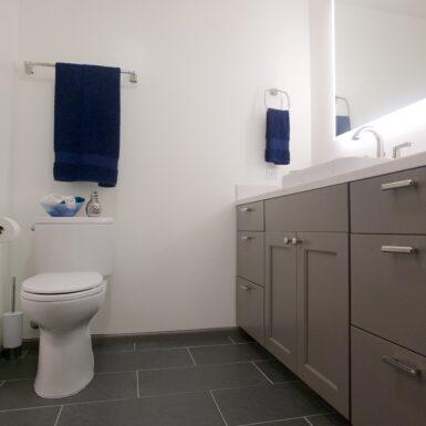 New Bathroom Floor and Vanity