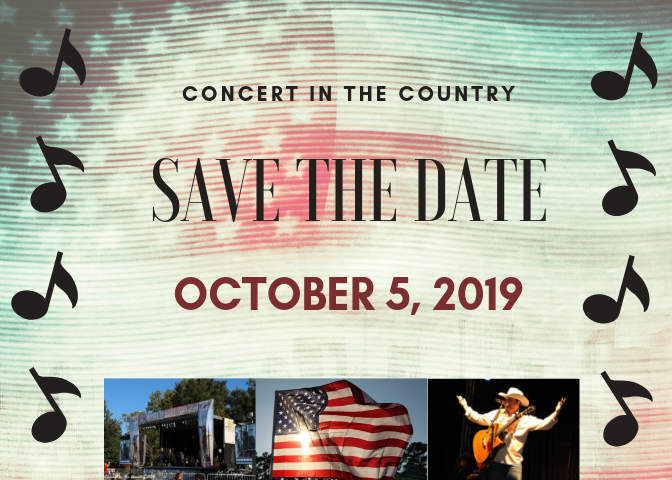 Boots For Troops Concert in the Country – October 5th, 2019