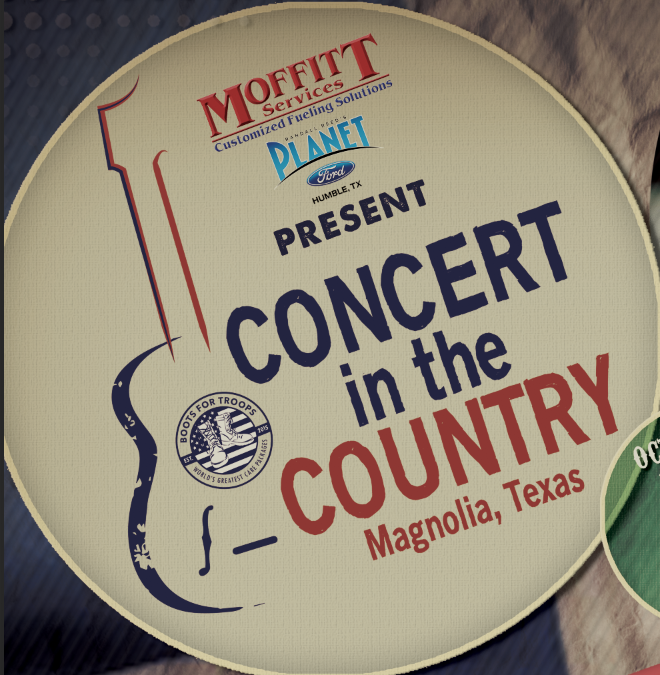 Boots For Troops To Announce Concert in the Country Headliner Monday July 22nd.