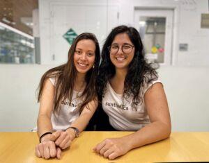 Two Sunethetics employees smiling