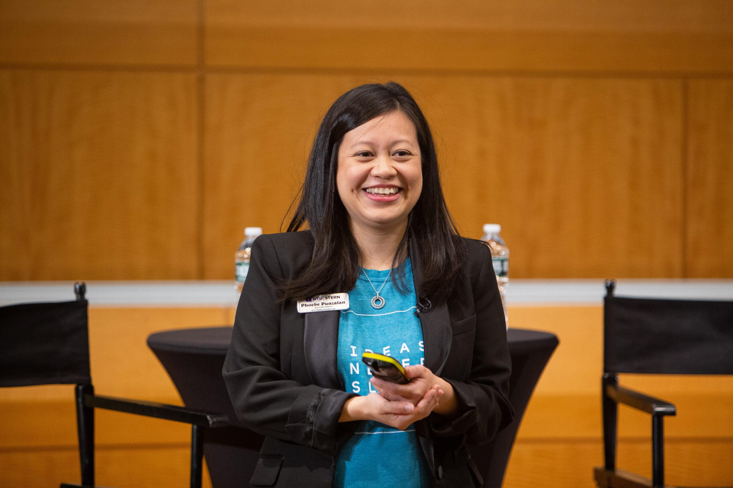 Phoebe Punzalan, Associate Director, presenting