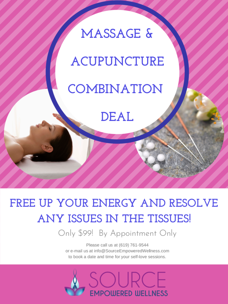 massage and acupuncture combination deal at source