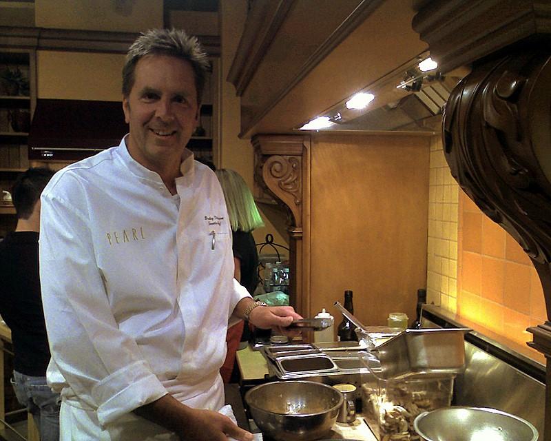 Photo: Chef Bradley Dickinson cooks in the Basco Kitchens