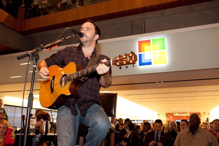 Dave Matthews Band Grand Opening Bellevue Square Microsoft Store