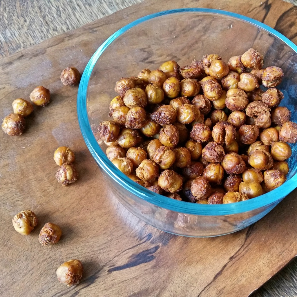 double roasted spicy maple chickpea croutons