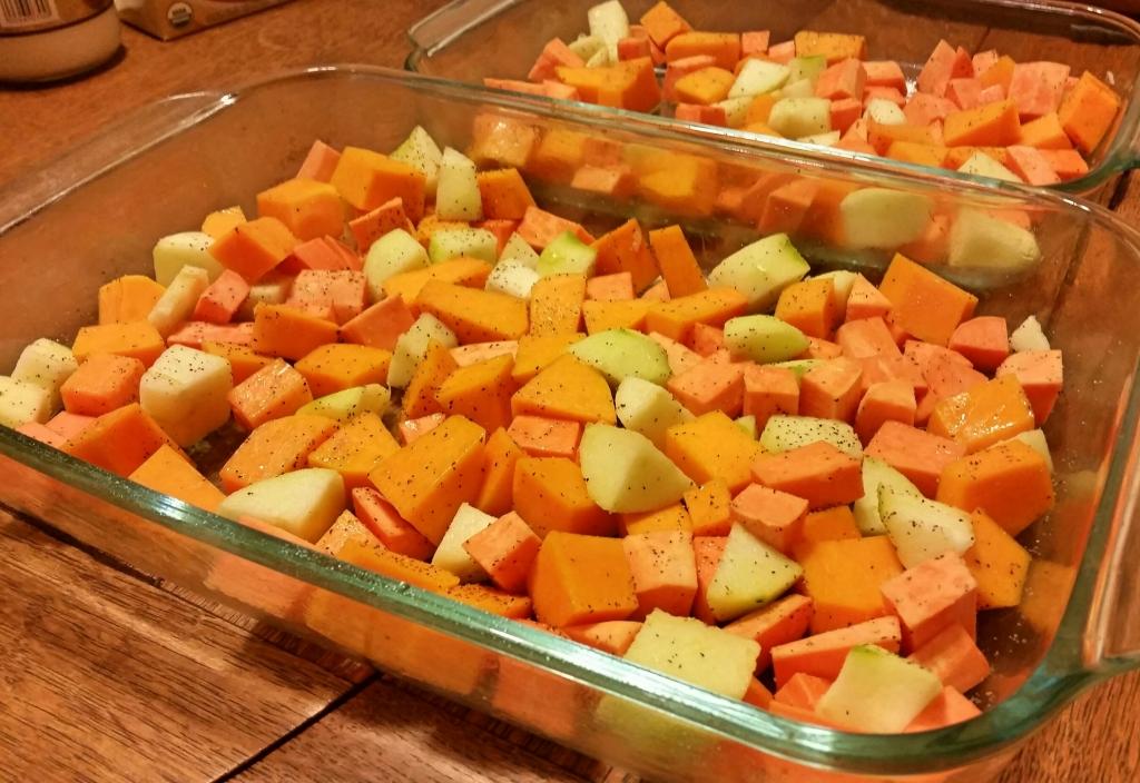 seasoned for roasting butternut squash apple sweetpotato