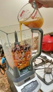 soup ingredients in blender