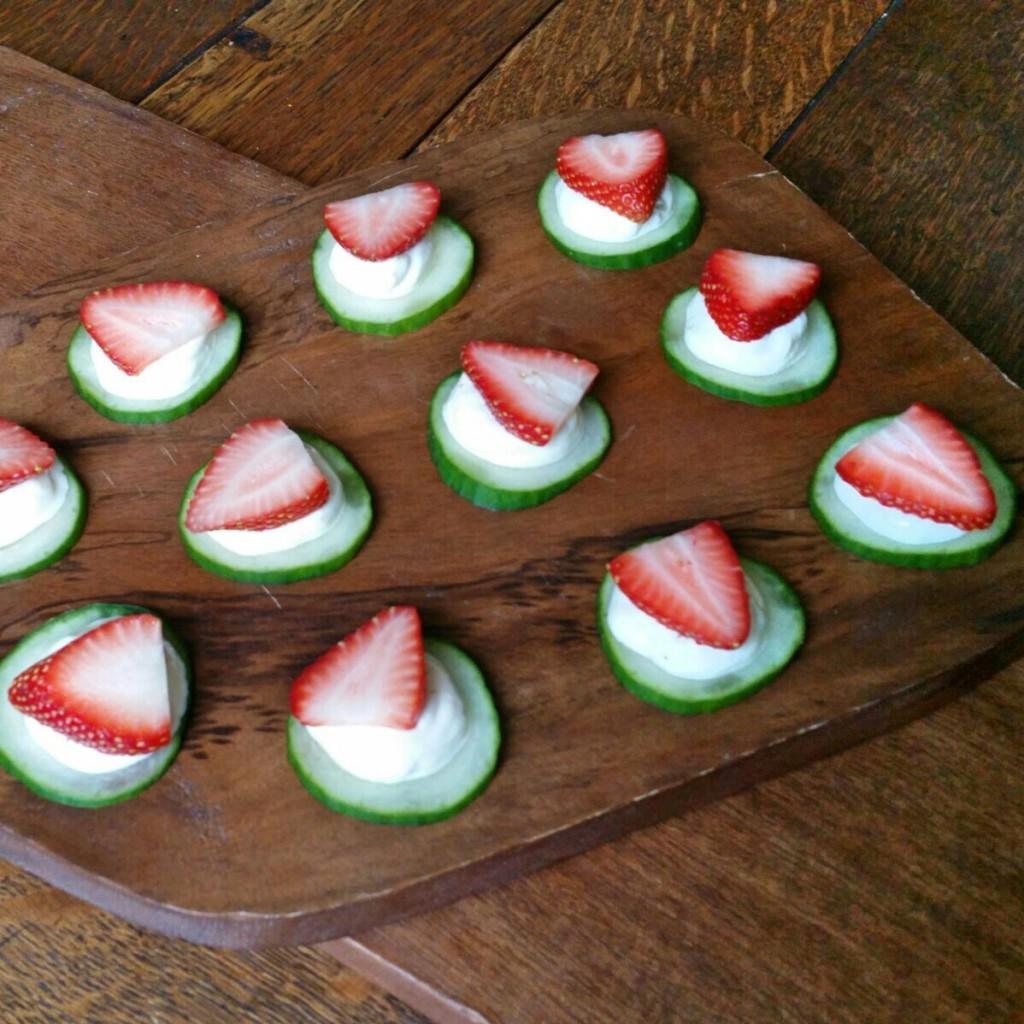 Cucumber + Fig Yogurt Bites - Recipe - Clovers & Kale
