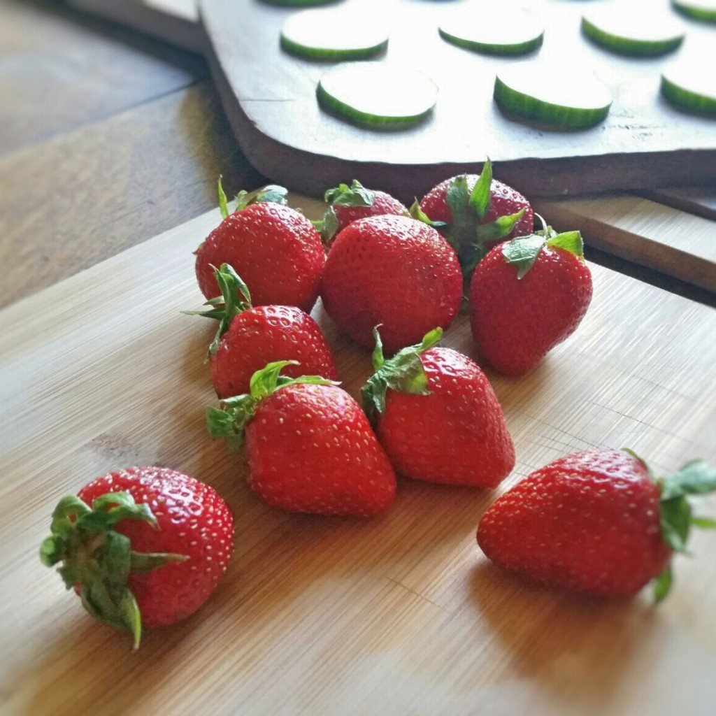 Strawberry + Cucumber Bites - Recipe - Clovers & Kale