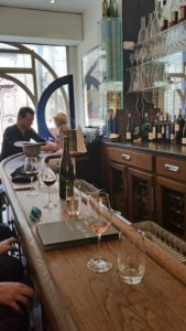 The narrow space that is Willi's Wine Bar